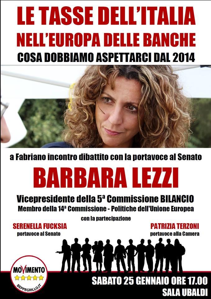 Incontro dibattito con le Senatrici Barbara Lezzi e Serenella Fucksia e la Deputata Patrizia Terzoni