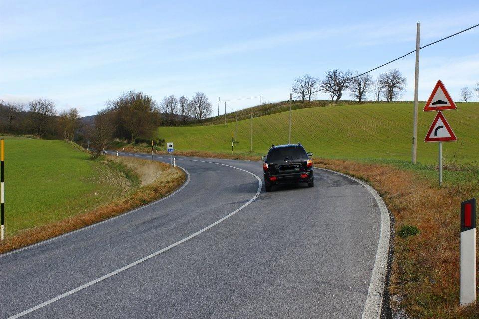 Strada Provinciale su cui è stato utilizzato del diserbante
