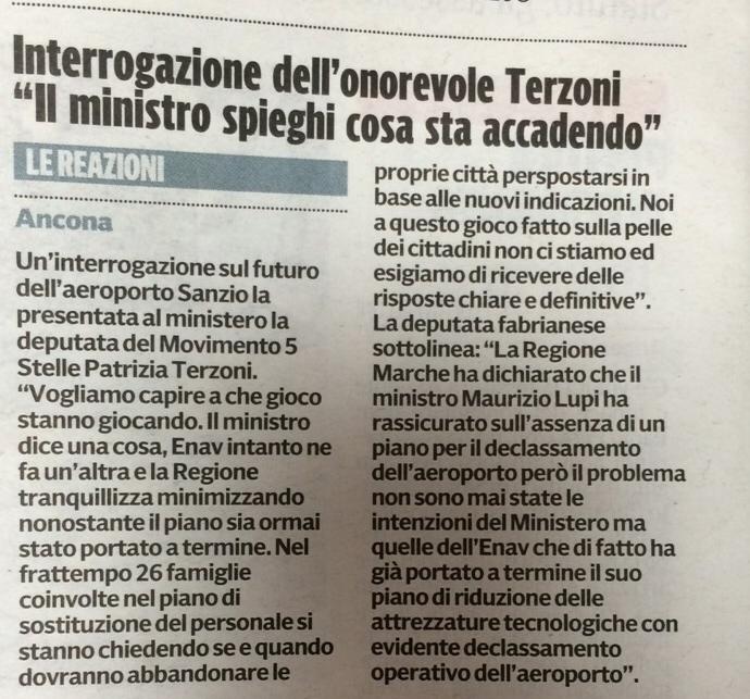 Articolo su Il Corriere Adriatico