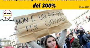DISOCCUPAZIONE GIOVANILE: +300% IN 7 ANNI NELLE MARCHE. BASTERA' IL TRIONFALISMO DI RENZI?