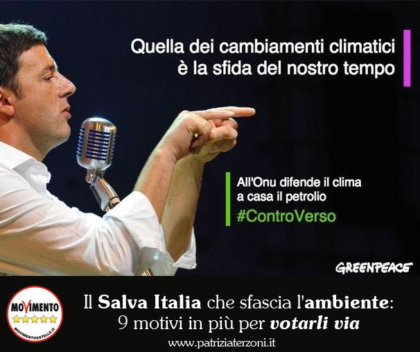 Il Salva Italia che sfascia l'ambiente: 9 motivi in più per votarli via!