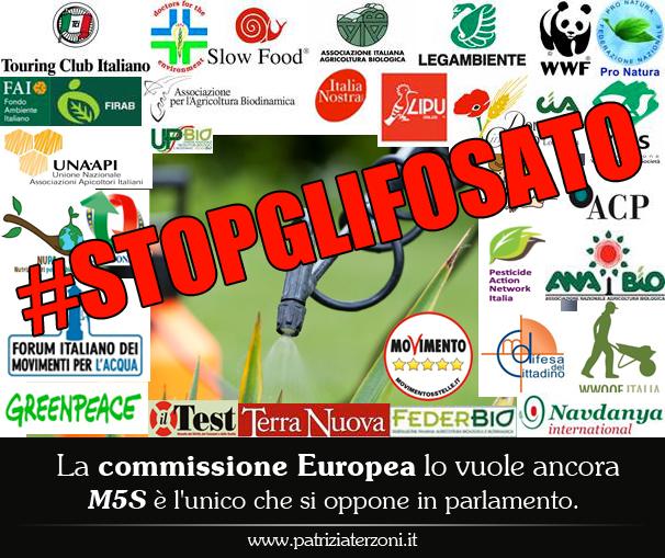 #StopGlifosato: La commissione Europea lo vuole ancora, M5S è l'unico che si oppone in parlamento.