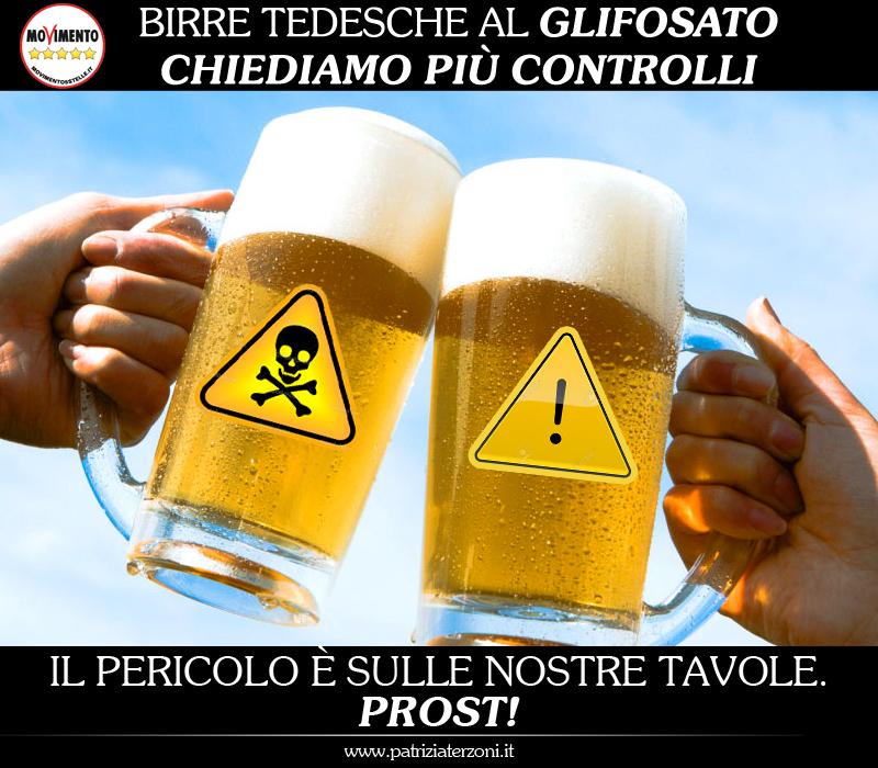 Birra al glisofato: i consumatori vanno tutelati e vogliamo vederci chiaro. Presentata interrogazione