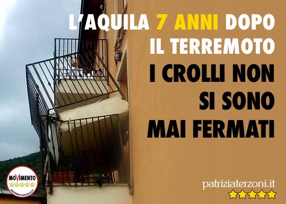 L'Aquila 7 anni dopo: i crolli non si sono mai fermati.