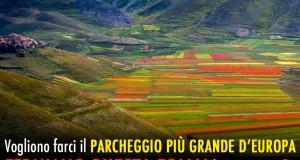 Parco dei Sibillini: parcheggio sulla piana di Castelluccio idea folle che va fermata