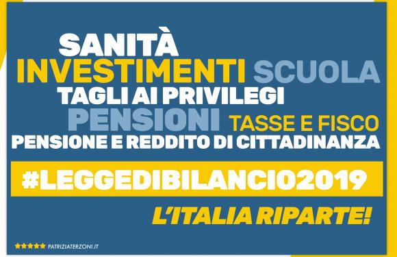 Legge di Bilancio 2019: come ripartirà l'Italia, punto per punto.