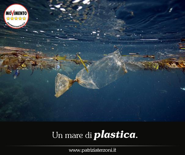 Un  mare di plastica.