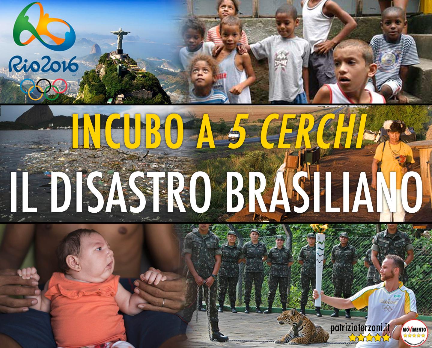 Incubo a 5 cerchi: il disastro brasiliano fra virus Zika, bambini delle favelas scomparsi e dissesti finanziari.