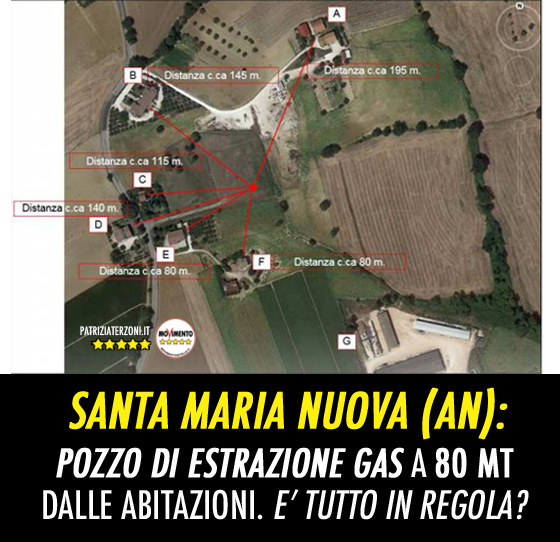 Estrazione di gas a 90 mt dalle abitazioni: Succede a Santa Maria Nuova. (AN)