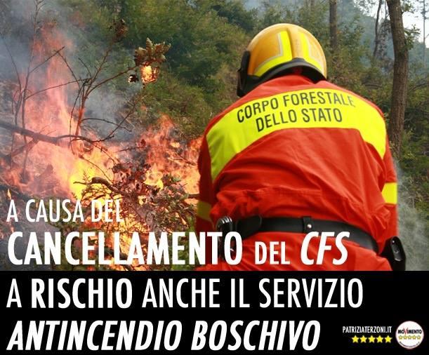 Addio alla Forestale, prime magagne: a rischio il servizio antincendio boschi