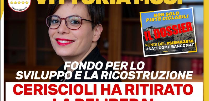 """Patto per la Ricostruzione e lo Sviluppo da 2 miliardi: Ceriscioli costretto a """"cassare"""" i progetti dopo le denunce del M5S"""